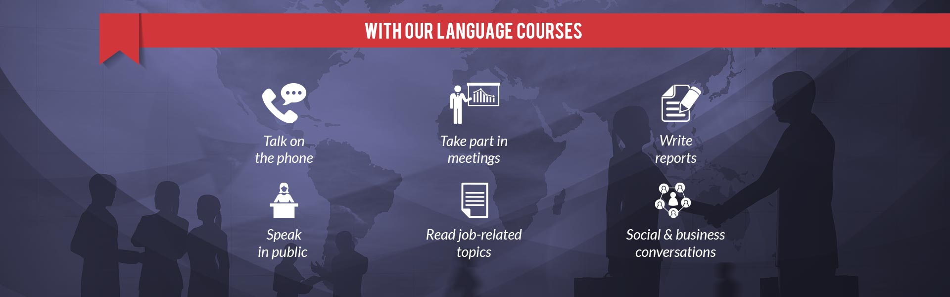 With our Language Courses
